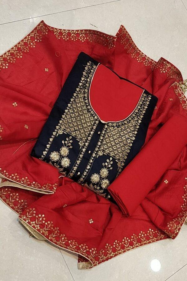 Jam Cotton Salwar Suit with Dupatta