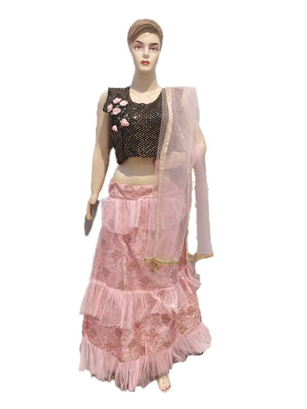 Crop Top and Skirt Lehengas