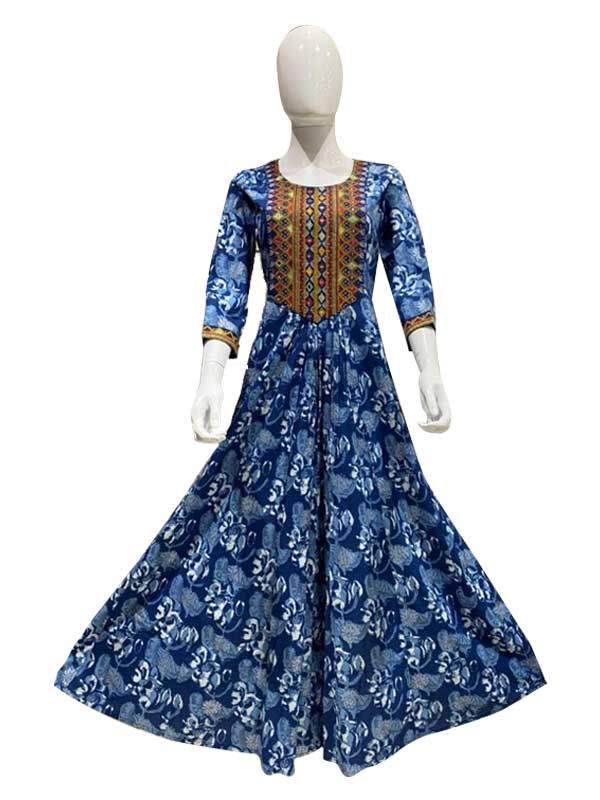 latest Designer Blue long Kurti for Women
