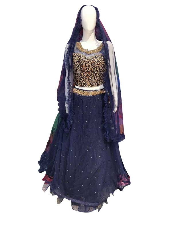 Stylish Blue Color Net Fabric Dress Online - Arihant Fashion
