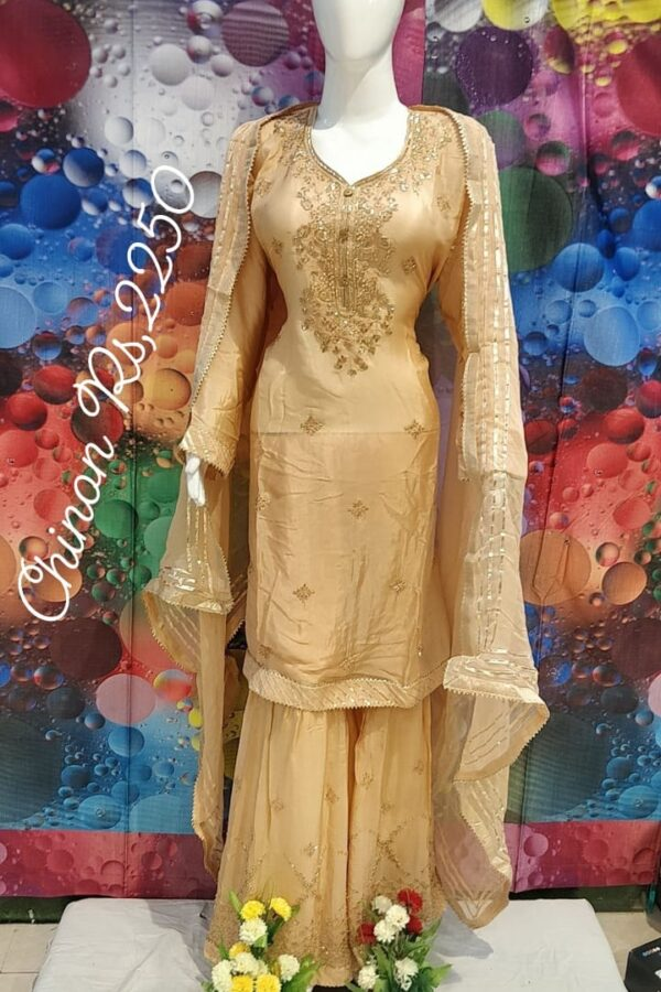 The Beautiful Designer Dress with Chiffon Dupatta