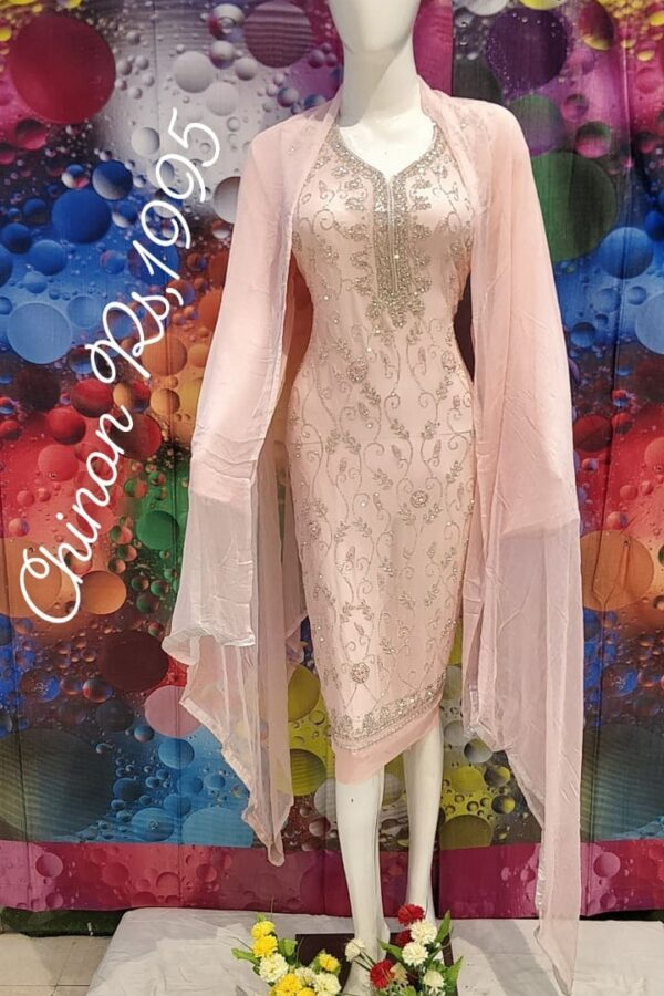 The Beautiful Designer Dress with Chiffon Dupatta