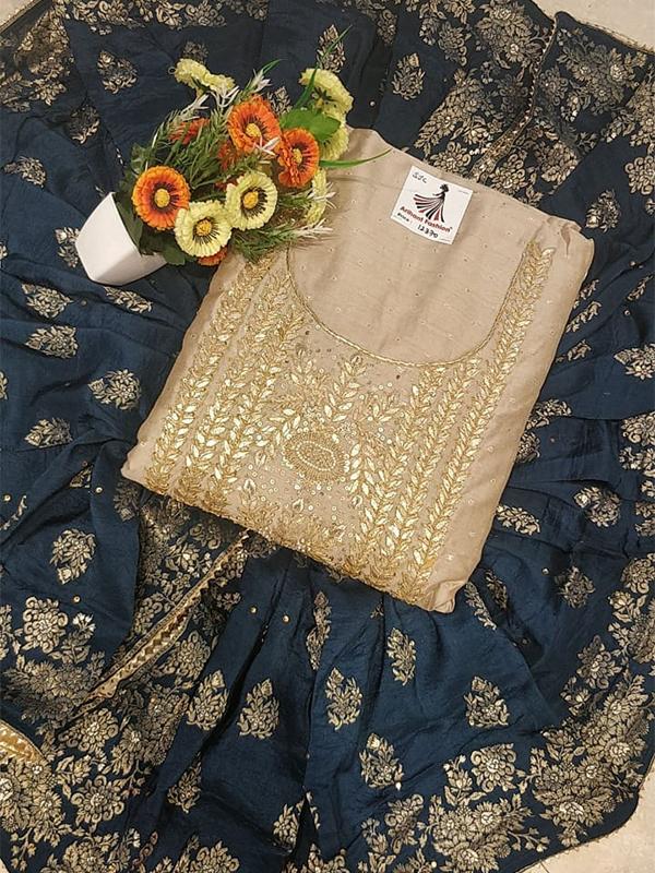 Designer Chanderi Silk Suit - Online Arihant Fashion