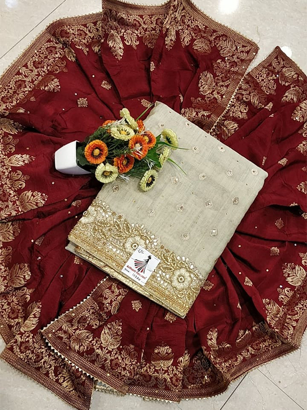 Designer Modal Chanderi Silk Suit With Banarasi Dupatta