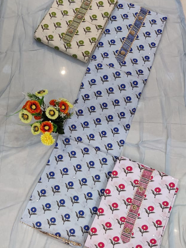Cotton Suit set With Cotton Dupatta - Online Arihant Fashion