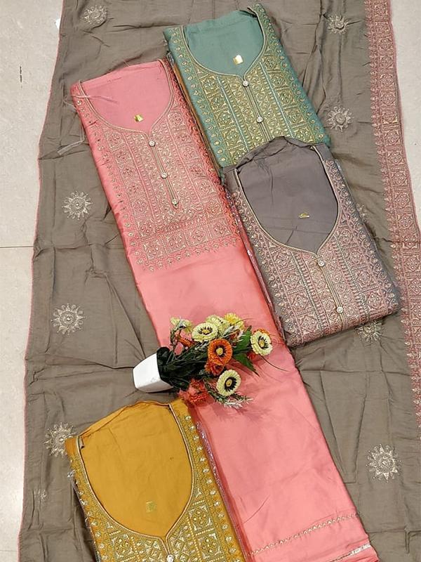 Coral Jaam Cotton Suit With Dupatta- Online Arihant Fashion