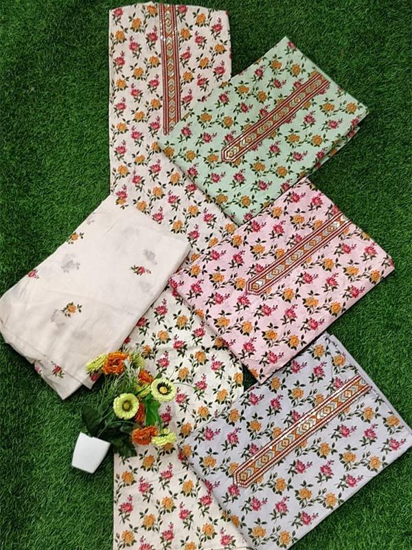 White cambric Cotton Suit with cotton salwar,Cotton Dupatta