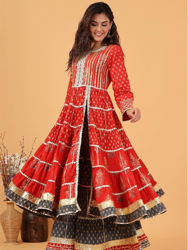 gotta patti dress with shararara